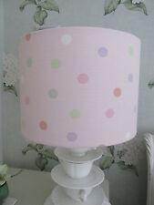 Handmade Drum Lampshade 30cm - Laura Ashley Mollie spot pink fabric