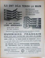 Plakat Darm-Trakt Propaganda Anti Communisme Versöhnung Französisch (2)