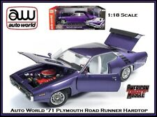 Auto World New Collectible '71 Plymouth Road Runner 1:18 Scale Diecast Car