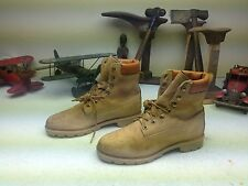 BROWN DISTRESSED GOLDEN RETRIEVER VINTAGE USA LACE UP ENGINEER TRAIL BOOTS 7.5 M