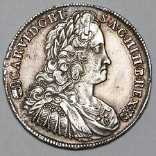 1739 KB CARL VI HUNGARY KREMNITZ SILVER HALF 1/2 THALER TALER COIN