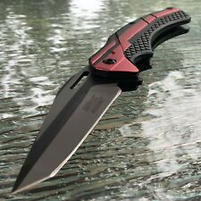 "8.5"" MTECH USA Tanto Spring Assisted Tactical Folding Pocket RESCUE Knife Open"