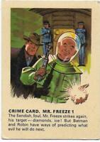 1966 Batman Weeties & Rice Krinkles Crime Card - Mr Freeze 1