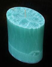80hr GREEN TEA & BAMBOO Clean, Natural & Healthy Scented OVAL PILLAR ECO CANDLE