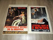 L' EFFROYABLE SECRET DU DOCTEUR HICHCOCK ! 2 affiches cinema 1962