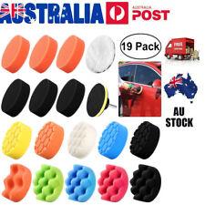 11pcs 4 Inch Waffle Sponge Buff Polishing Pad Kit M10 Drill for Car Polisher AU