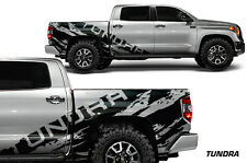 Vinyl Decal Wrap Kit TUNDRA TORN for 2014-2017 Toyota Tundra CrewMax MATTE BLACK