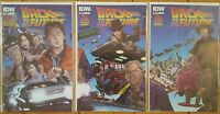 Back to the Future 1 2 3 First Print NM Connecting Cover A Set IDW 2015 Comics