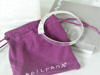"New in Box Sterling Silver 925 B3321 Silpada Rattlesnake Bangle Bracelet 8"""