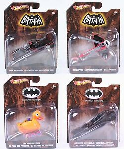 Hot Wheels Batman Batmobile Batcopter Penguins Duck Armoured toys 1:50 scale NEW