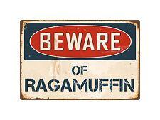 """Beware Of Ragamuffin 8"""" x 12"""" Vintage Aluminum Retro Metal Sign VS353"""