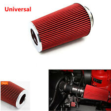 3'' High Quality Red Inlet Car Long Ram Cold Air Intake Filter Round Cone Filter
