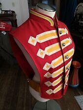 VTG RED Marching Band Uniform Jacket Washington University fruhauf uniforms inc