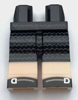 Lego New Black Hips and Light Flesh Legs with Black Dress with Wavy Lines Pants
