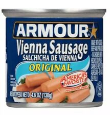 Lot 12 Cans Armour Original Vienna Sausage, 4.6 oz Each Ships Fast!