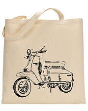 LAMBRETA cotton TOTE BAG-Libro Borsa, Shopping bag, riutilizzabile e lavabile