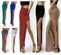 Sexy Pencil Bandage Open Side Slit Split Long Maxi Asymmetrical Skirts Dress