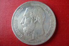 WIENER  LEOPOLD II 5 FRANCS 1867 avec POINT
