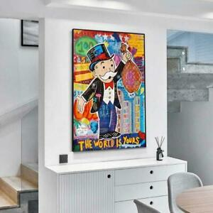 Alec Monopoly Graffiti Wall Art Money Paintings On The Wall Art Posters F-SHIP