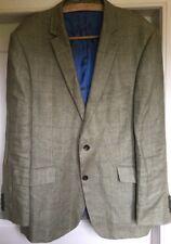 Viyella Linen Check Jacket Size 44 Regular Lightweight Excellent condition
