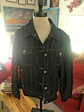 Vintage GUESS Cropped Black Denim Jean Jacket Girls sz 10M Trucker Streetwear