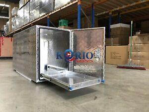 Aluminium Caravan Trailer Tool Box With Slide Tray & Vent 1450 L x 500 D x 700 H