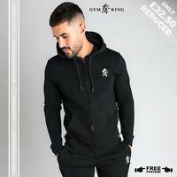 Gym King Mens Basic Zip-Thru Hoody Black