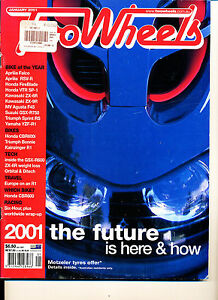 Two Wheels Magazine Jan 2001 Triumph Bonneville Honda CBR600FI ZX-6R GSX-R750Y