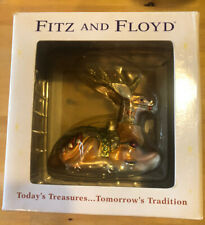 Fitz And Floyd Glass blown Greg Medium Deer Ornament New In Box Retired