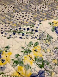 LL Bean Cottage Floral Twin Quilt Comforter Reversible 100% Cotton