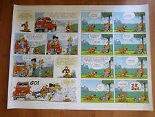 GRANDE AFFICHE POSTER BOULE & BILL PUBLICITE TOTAL 2006 60 X 80 CM 2 HISTOIRES