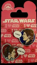 Valentine 2016 Star Wars Han Solo and Leia 2 Pin Set Disney Pin 113240