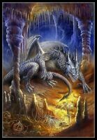 Cave Dragon - Chart Counted Cross Stitch Pattern Needlework Xstitch Craft DIY