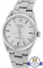 MINT Rolex Oyster Perpetual Air-King Silver Stainless 5500 34mm Watch 14000
