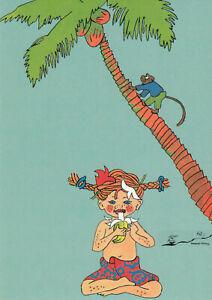 Postkarte: Ingrid Vang Nyman - Pippi in Taka-Tuka-Land