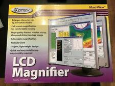 "KANTEK LIGHTWEIGHT, LCD MONITOR MAGNIFIER FILTER, FITS 19"" LCD MONITOR"