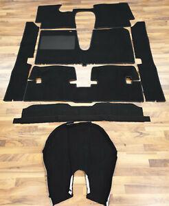 Black Velours Carpet set for Lancia Fulvia Sport Zagato 1965-1972 Carpet kit