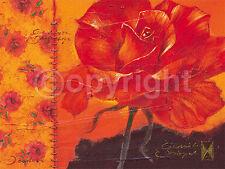Joadoor: My valentine Rose Blumen Fertig-Bild 60x80