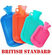 2 Litre Liter Hot Water Bottle Hotwater Natural Rubber Warmer Screw Top 500ml 1L