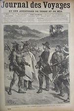 JOURNAL DES VOYAGES N° 651 de 1889 INDIENS CALUMET DE LA PAIX  / UN NOEL RUSSE
