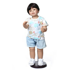 """39/"""" Huge Reborn Toddler Girl Doll Vinyl Full Body Standing Real Child Size Model"""