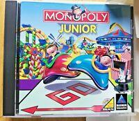 Monopoly Junior Jr PC Software Board Game Windows 95 98 Retail Jewel Case