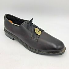 Vintage Jb Brown Faux Leather Oxfords Shoes Mens size 11D made in Usa Unworn E2