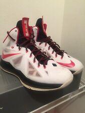 Nike LeBron X Miami Heat 10 Home White Black Red 541100-100 Air Jordan  size 13