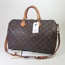 Authentic Louis Vuitton Speedy Bandouliere 35 Monogram M40392 Genuine Bag LC311