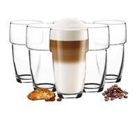6 stapelbare Latte-Macchiato Gläser 300ml Kaffeegläser Cappuccino Gläser Teeglas