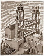 Escher 'Waterfall' - FINE ART PRINT Giclee Illusion Surreal 45x60cm Large