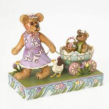 Jim Shore & Boyds Bears Easter Parade Figurine ~ Momma Bearsdale w/Petey