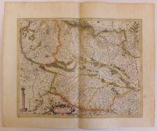 Gravure Alsace Supérieure Alsatia superior G. Mercator Hondius II XVIIè S.