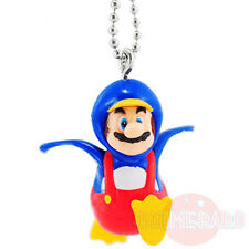 "New Super MARIO Bros. Wii Mascot Figure Key Chain 1.3"" PENGUIN Tomy Nintendo"
